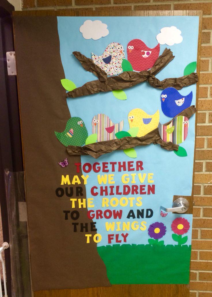 Spring Birds Quot Week Of The Young Child Quot Classroom Door Idea