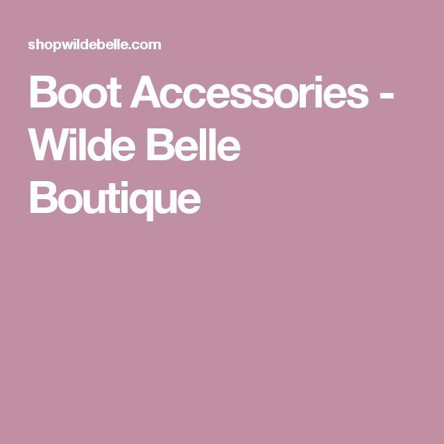 Boot Accessories - Wilde Belle Boutique