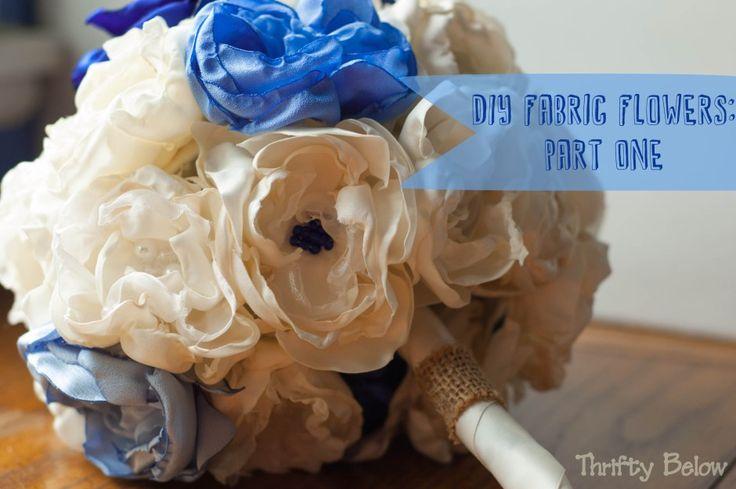 DIY Fabric Flowers | Thrifty Below