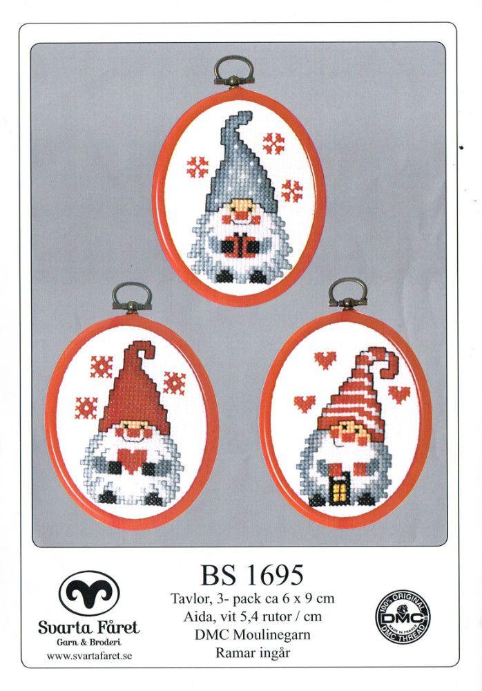 Cross-stitch Santa Gnomes, part 1 of 3