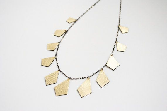 Gold necklace leather necklace black and gold by elfinadesign