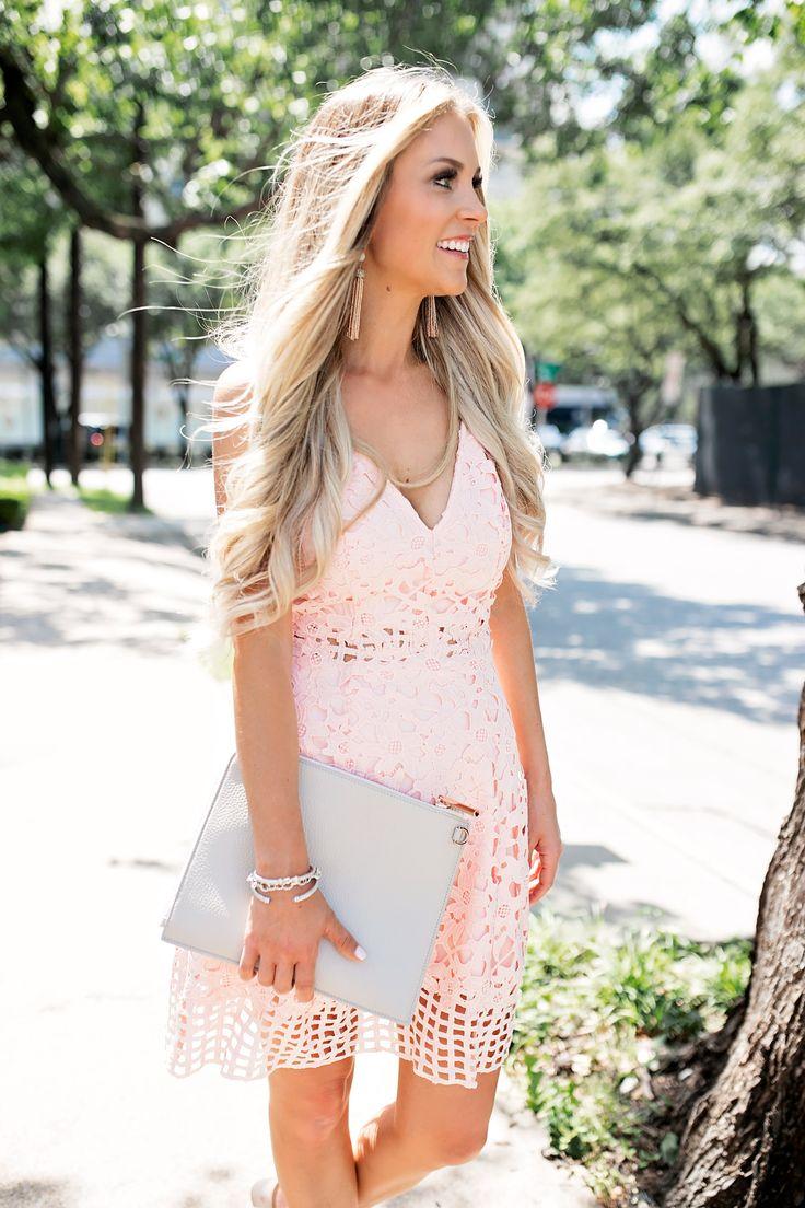 summer wedding guest dresses wedding dress guest summer Summer Wedding Guest Dress Blush Pink Laser Cut Lace Dress