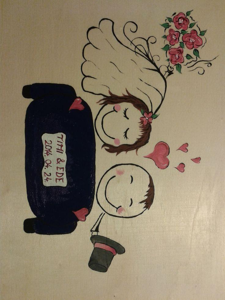 Házasságmentő doboz külseje esküvői ajándék volt! :)