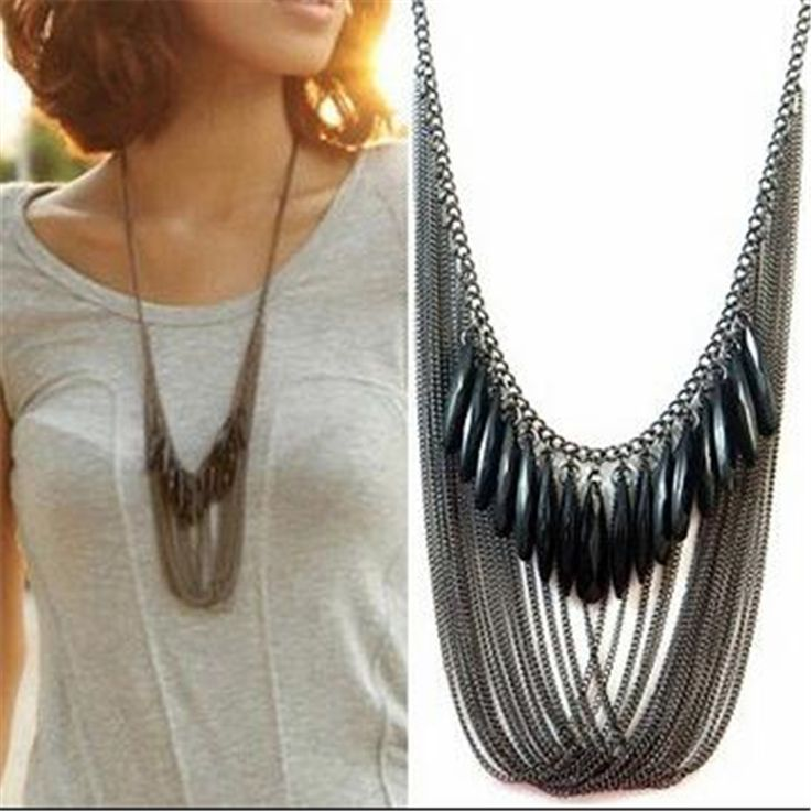 Fashion Long Necklaces & Pendants for Women Collier Femme 2017 Vintage Tassel Multulayer Necklace Statement Collares Kolye
