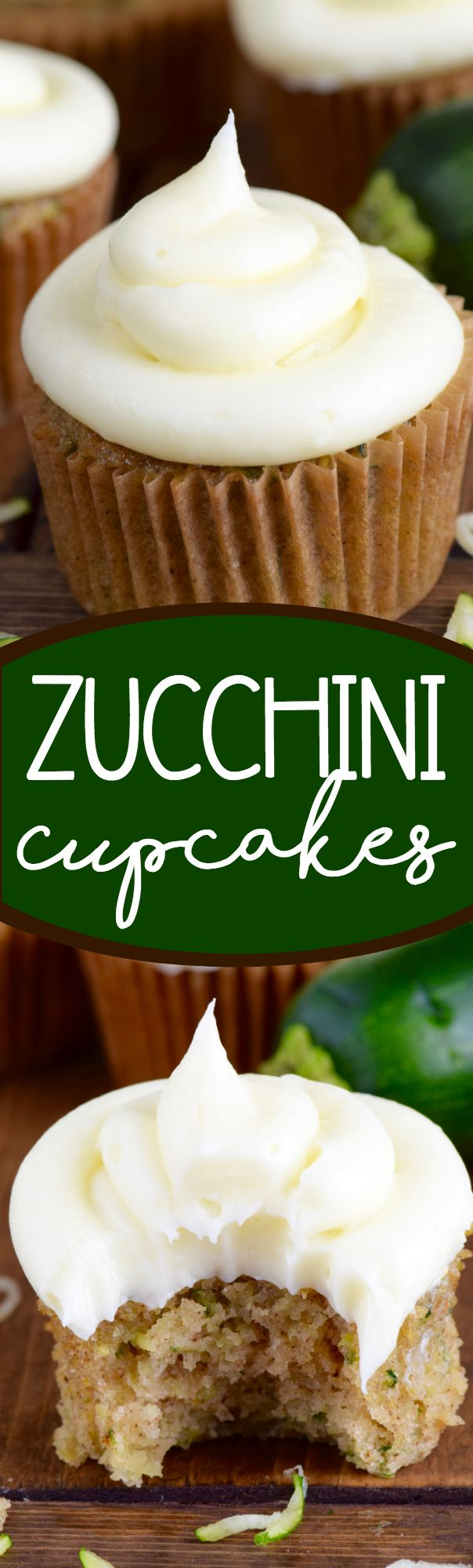 These Zucchini Cupcakes are amazingly delicious and moist! A whole batch will get DEVOURED before you know it!: