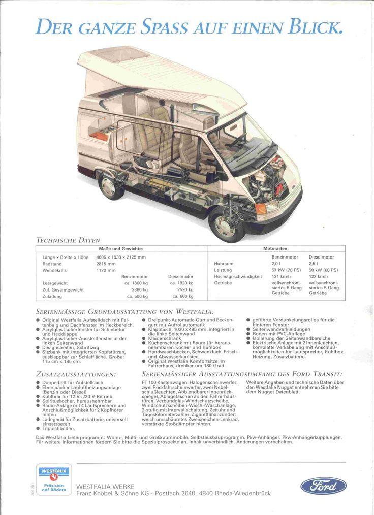 westie nugget camper westfalia nugget camper on a ford. Black Bedroom Furniture Sets. Home Design Ideas