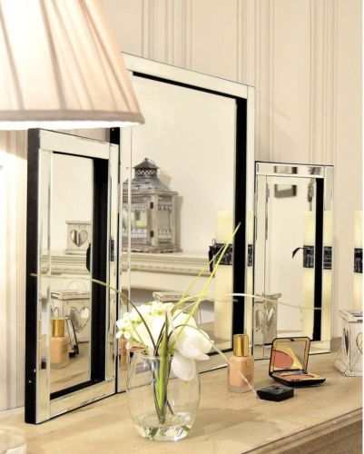 Venetian Modern Folding Free Standing Large Dressing Table Mirror Bevelled  Edged