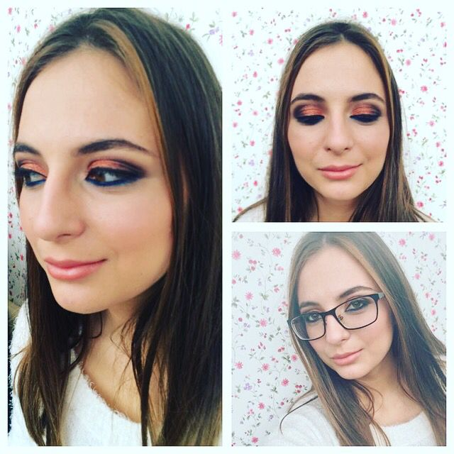 Strong eye makeup with a 80's vibe