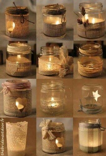 Ideas de decoración velas!