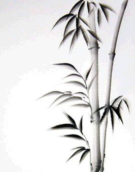 Sumi bamboo...  not signed by anyone, but wonderful talent