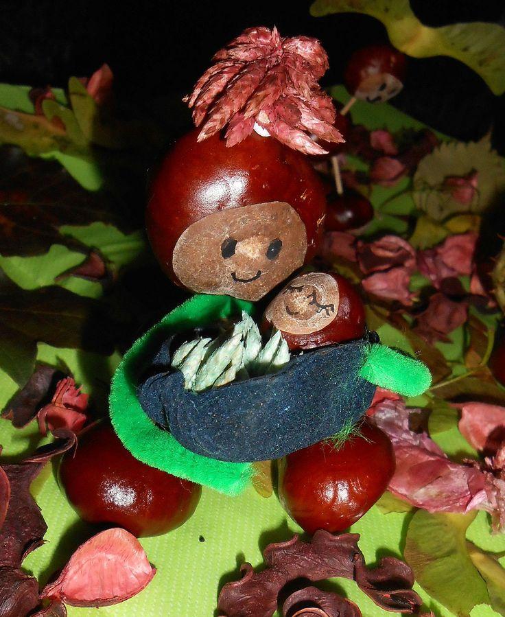 20 best bricoler avec des marrons images on pinterest conkers fall crafts and crafts for kids - Activite manuelle enfant ...