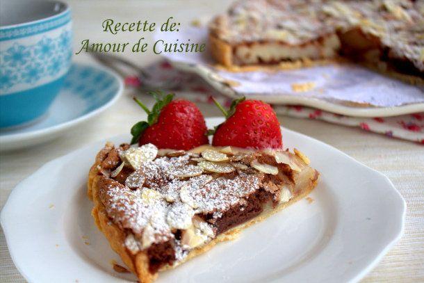 tarte poires et chocolat de Stephane Glacier - Amour de cuisine