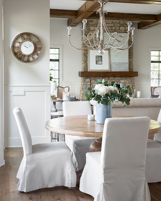 Miraculous French Inspired Breakfast Room With Mango Wood Round Dining Machost Co Dining Chair Design Ideas Machostcouk