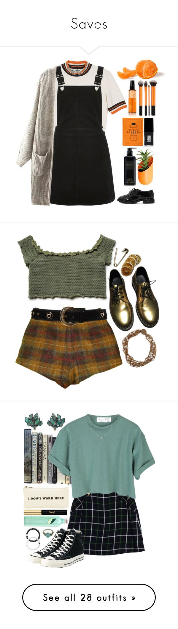 """Saves"" by egocentric-oblivion ❤ liked on Polyvore featuring Monki, Oasis, Wallter, shu uemura, JINsoon, Victoria's Secret, Madame A Paris, Free People, ESCADA and Dr. Martens"