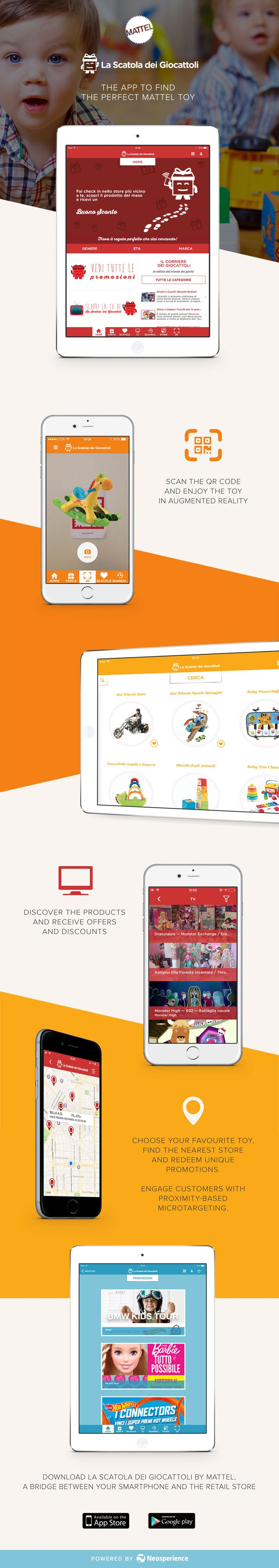 Mattel's La Scatola dei Giocattoli app, developed by Neosperience and renewed with Neosperience Engage, embraces the retail revolution where Apple's iBeacon technology is used to serve right-time content to nearby customers and increase conversion rates at brick-and-mortar stores.