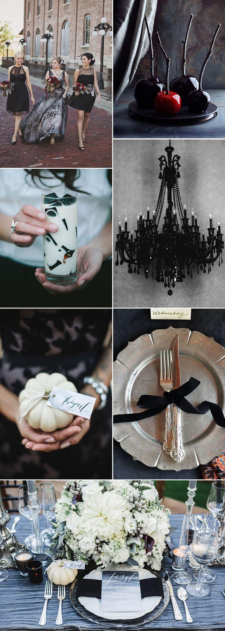 I now that a Halloween themed wedding isn't going to be everyone's cup of tea, and it's highly unlikely that you have even thought about this style of autumn wedding. I am here to tell you a Halloween wedding doesn't have to be full of cauldrons and witches hats. You can have a Halloween wedding that's elegant - with an edge....