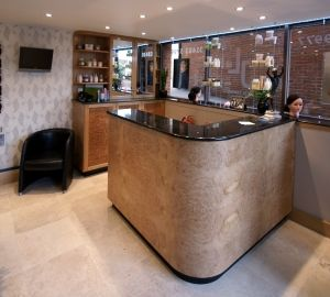 Chittleburgh Joinery- Specialist Joinery Manufacturers, Surrey, Hampshire and Sussex.   Office furniture, hotel reception desks, hotel bars,reception desks, casino counters, office storage, health spa lockers, - Commercial Joinery