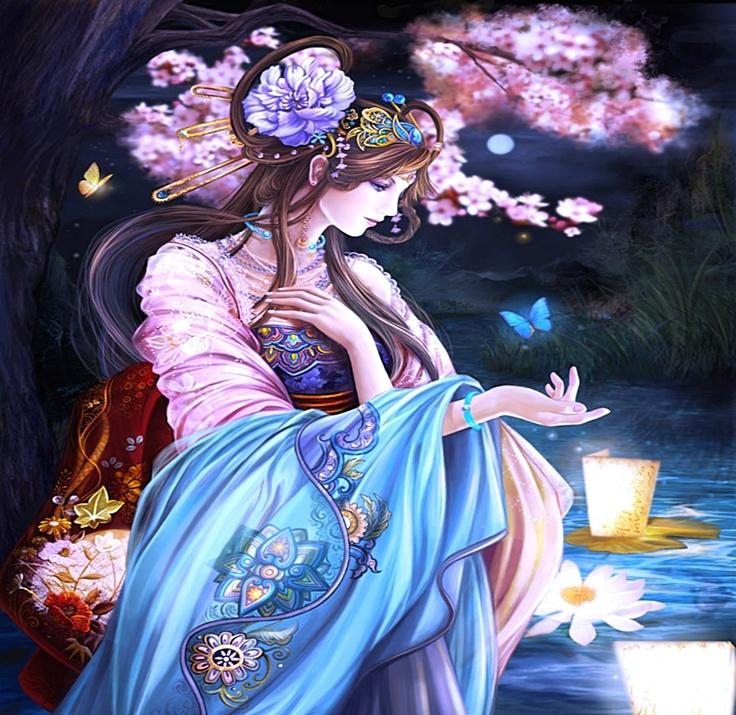 amazing anime illustrations Ming Chinese Princess