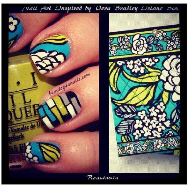 Vera Bradley nails; this is a critical development for VB lovers: Nails Art, Nails Design, Nailart, Instagram Verabradleyoff, Hair Nails Mak Up Beautiful, Nails Polish, Bradley Nails, Vera Bradley, Islands Bloom