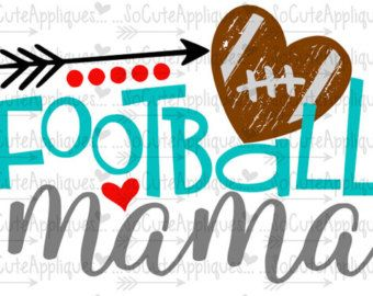 SVG DXF EPS Cut file Football Sister Football by SoCuteAppliques