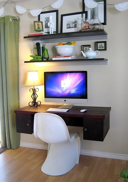 25 best ideas about floating desk on pinterest home for Build your own floating desk