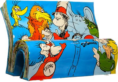 Vibrant 'BookBenches' Painted With Images From Iconic British Stories - DesignTAXI.com