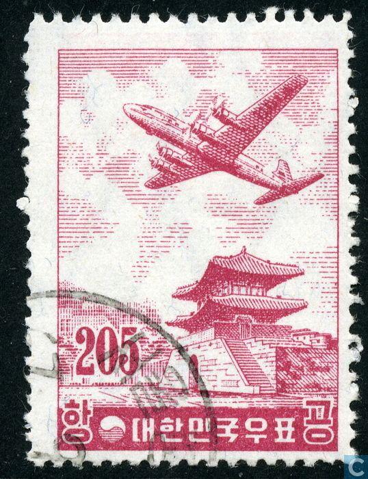 1956 - South Korea - Plane above Seoul