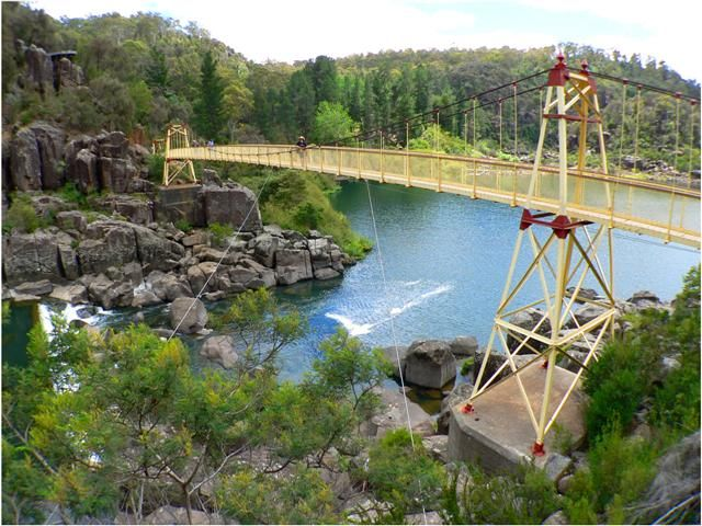 The Cataract Gorge in Launceston, Tasmania. One of the most beautiful places I have been at.