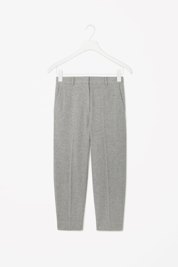 Cropped wool trousers // COS