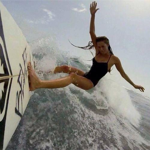 Girls can too surf! Asma Chandani- Surfers