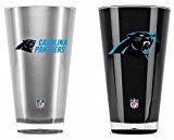Carolina Panthers Official NFL 20 fl. oz. Tumbler Cup Set by Duck House
