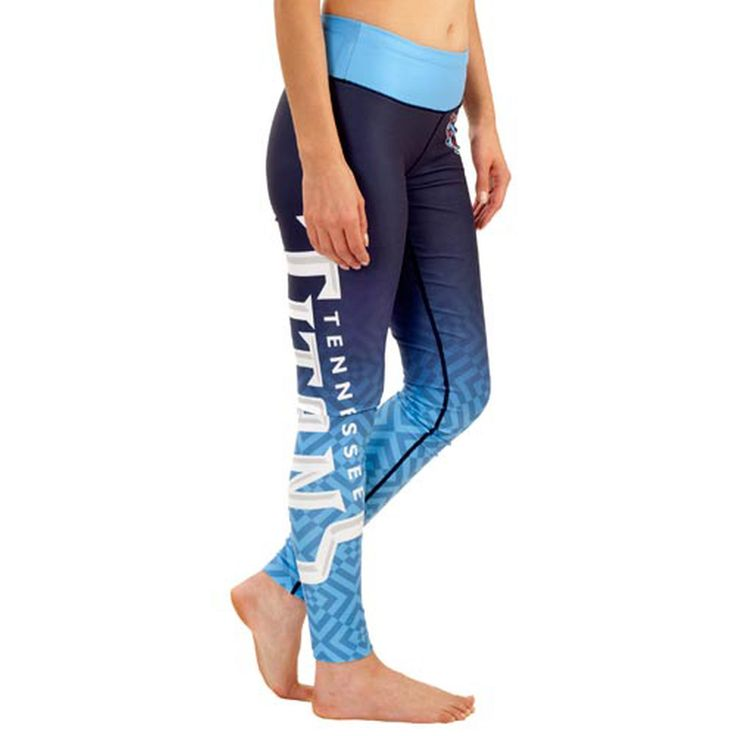 Tennessee Titans Klew Women's Gradient Leggings - Light Blue