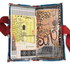 Create custom journals with the variety of art journaling techniques in this free eBook.: Art Journals Pages, Travel Journals, Art Diy Households, Custom Journals, Create Art, Art Journals Techniques, Journals Ideas, Dawn Devri, Handmade Journals