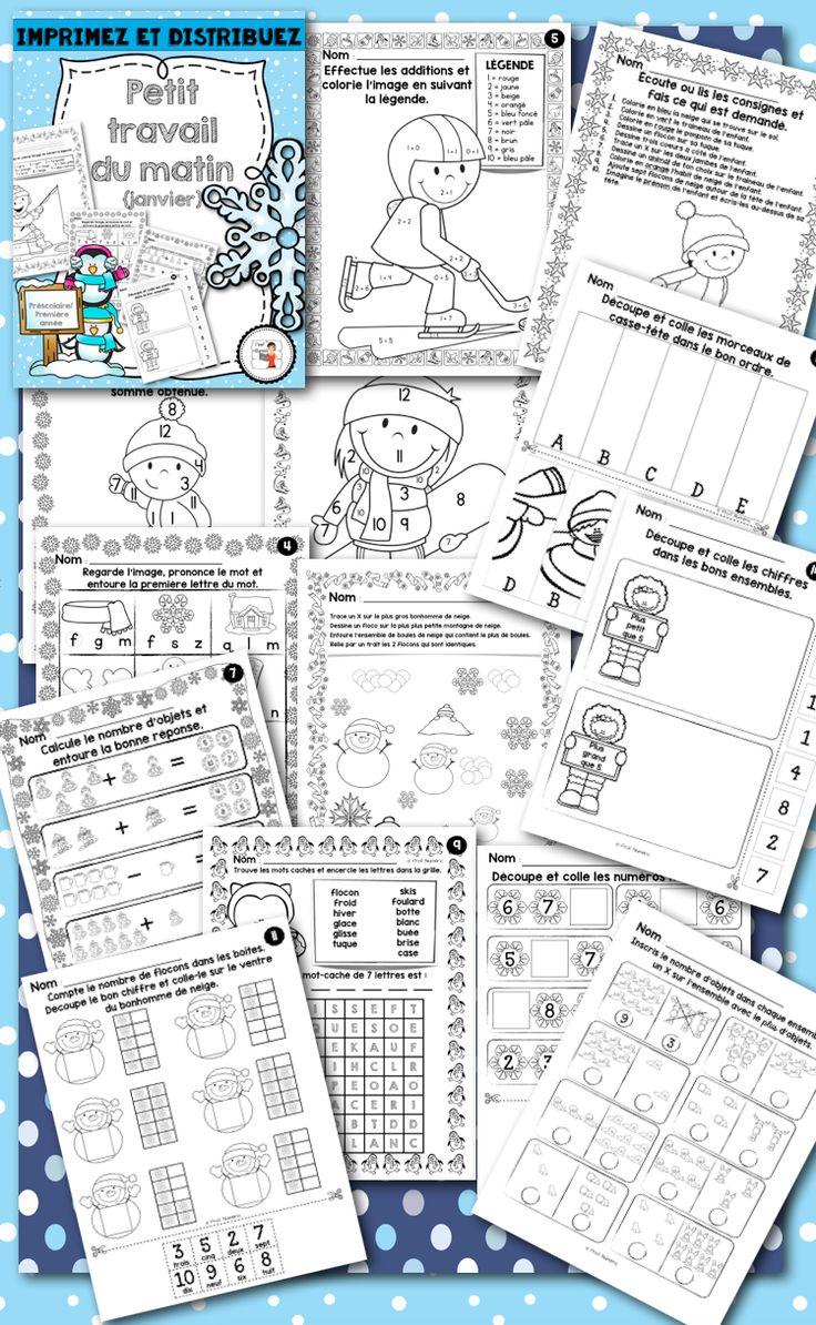 20 pages d'activités que vos jeunes élèves du préscolaire, ou début 1ère année, pourront réaliser soit en arrivant en classe le matin, en devoir ou lors des ateliers du mois de décembre.