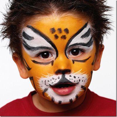 Trucco del viso per Carnevale per bambini da tigre
