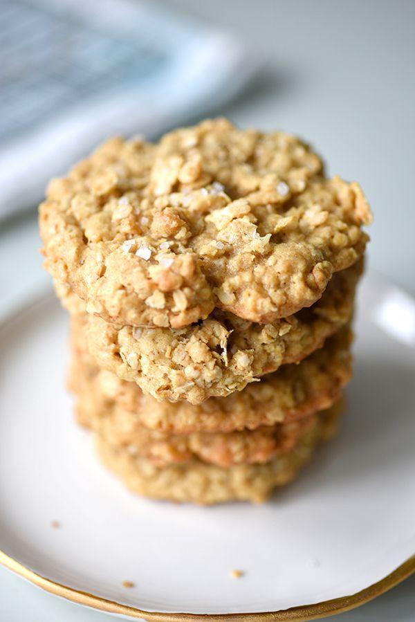 Salted Oatmeal Cornflake Cookie Recipe