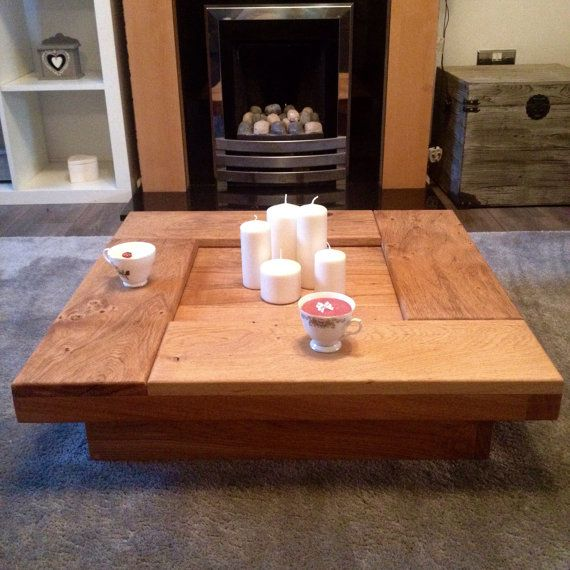 Coffee table oak coffee table wood coffee table by Fretwells