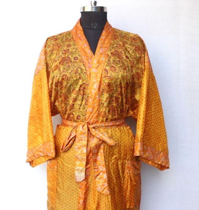 Women Luxury Long Smooth Silk Robe Robe with Elegant Bridal Wear Bridesmaid Wedding kimono High-quality Lingeries #MK 634