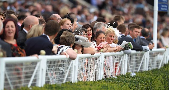 Spectators at Chester Racecourse