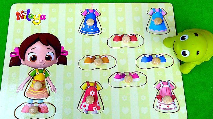 Niloya ve kıyafetlerim seti ile çizgi film oyuncak bebek giydirme oyunu ...