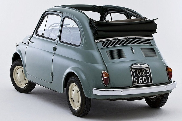 Fiat Cinquecento with Turin plate 500