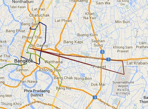 Taxi fare, Auto fare and Cab Fare in Bangkok from Suvarnabhumi Airport to  holiday inn express siam square