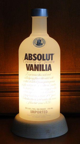 Tischlampen - ABSOLUT VODKA VANILIA - Lampe #1 / Sockel konisch - ein Designerstück von deltafoxx bei DaWanda