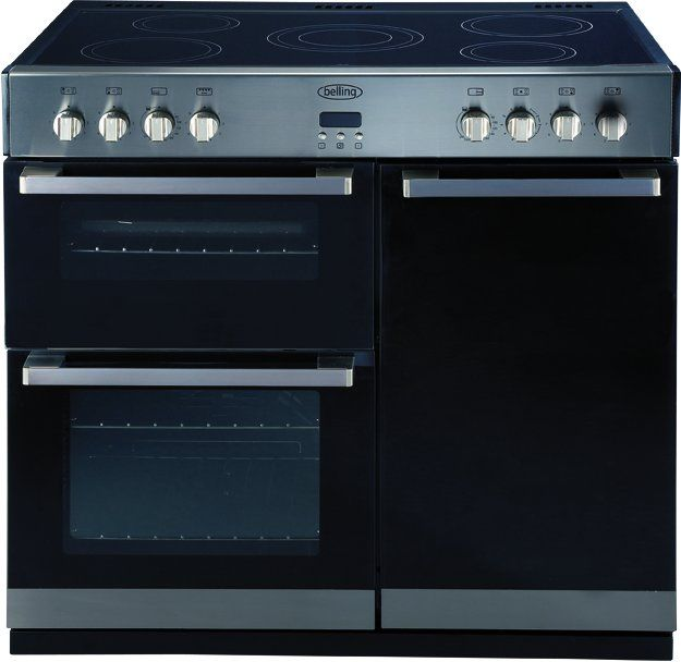 buy belling db4 90e stainless steel 90cm electric range cooker 365 electrical
