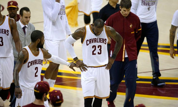 The NBA Finals burden is too much for LeBron James and Kyrie Irving = LeBron James drove to the rim, split a double team and whipped a pass across his body, finding an open J.R. Smith for a 3-pointer 26 feet away from the basket.....