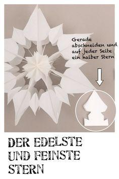 Stern aus Papier, Anleitung, Weihnachtsstern basteln