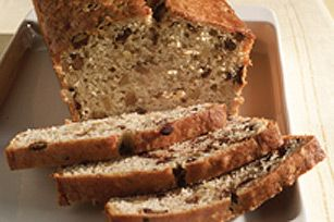 Chocolate Chunk-Banana Bread recipe - For easier slicing, wrap bread and store overnight before slicing to serve.