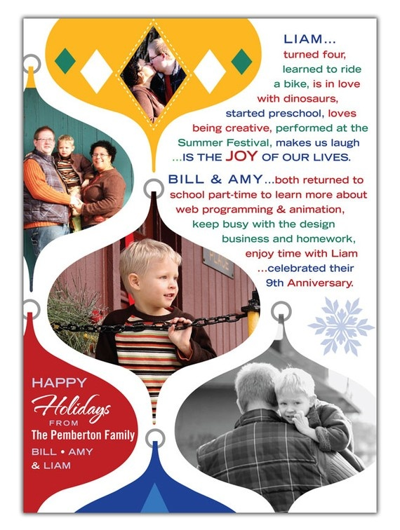 Would be perfect on our tri fold brochure for a family Christmas newsletter