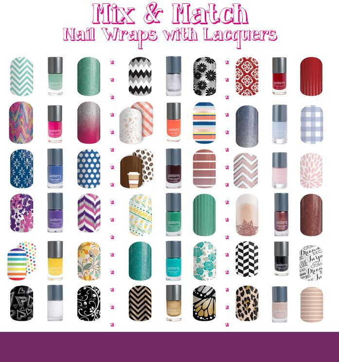 Jamberry 2016 Spring Mix & Match Nail Wraps with Lacquers                                                                                                                                                     More