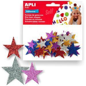 Estrellas de Goma Eva con Purpurina, Adhesivas P.50 http://www.selfpaper.com/html/estrellas-de-goma-eva-purpurina-adhesivas-g.html